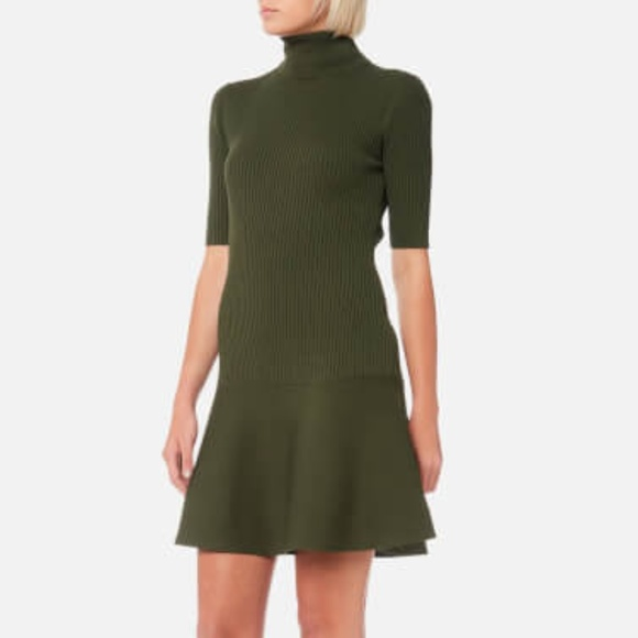 42c94d95f29 MK Deep Olive Turtleneck Ribbed Sweater Dress. M 5bd49c11fe5151be0407d23c